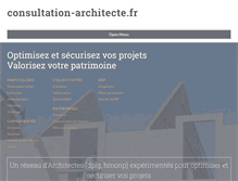 Tablet Preview of consultation-architecte.fr